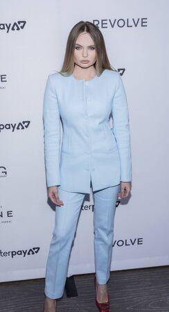 New York, NY, USA - September 5, 2019: Elena Matei attends The Daily Front Row 7th Fashion Media Awards at The Rainbow Room at Rockefeller Center Редакционное