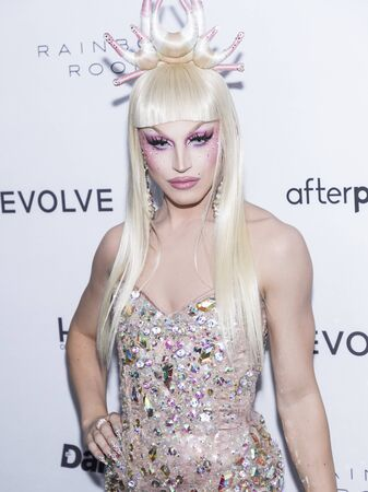 New York, NY, USA - September 5, 2019: Drag queen Aquaria wearing The Blonds attends The Daily Front Row 7th Fashion Media Awards at The Rainbow Room at Rockefeller Center