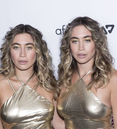New York, NY, USA - September 5, 2019: KAllie Kaplan and Lexi Kaplan of The Kaplan Twins attend The Daily Front Row 7th Fashion Media Awards at The Rainbow Room at Rockefeller Center