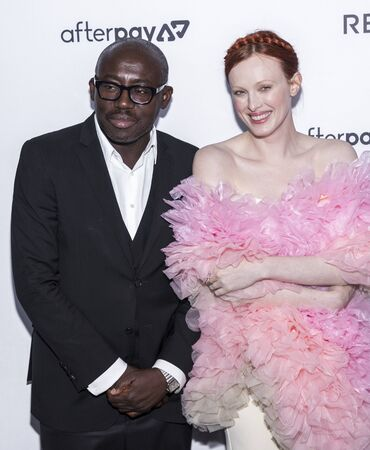 New York, NY, USA - September 5, 2019: Edward Enninful and Karen Elson attend The Daily Front Row 7th Fashion Media Awards at The Rainbow Room at Rockefeller Center Редакционное