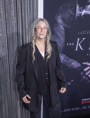 New York, NY, USA - October 2, 2019: Patti Smith attends the New York premiere of