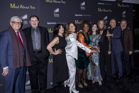New York, NY, USA - December 16, 2019: Cast attends the Mad About You red carpet event at The Rainbow Room, Rockefeller center, Manhattan