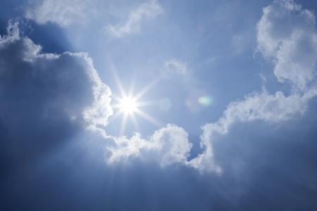 Blue Sky Sun Clouds Foto de archivo