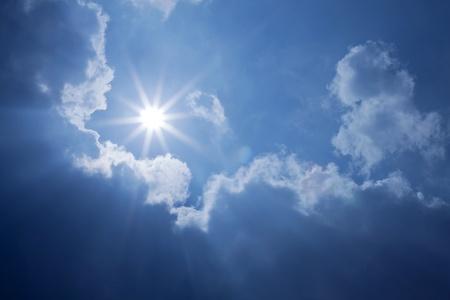 Blue Sky Sun Clouds photo
