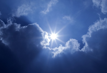 Blue Sky Sun Clouds Stock Photo - 10778824