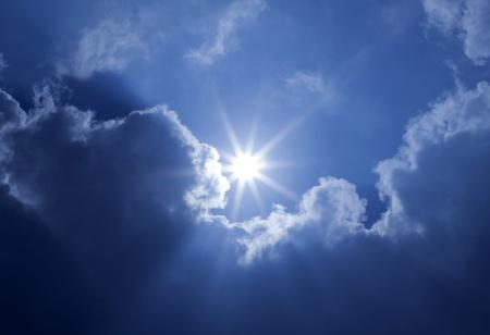 inspirerend: Blue Sky zon Wolken