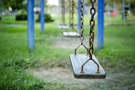 Swings, children's playground. Stock Photo - 11090018