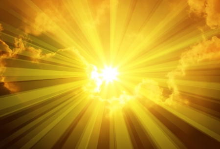 rayos de sol: Cielo sol Nubes
