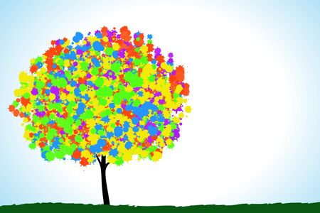 Colorful trees. Stock Photo - 11279371