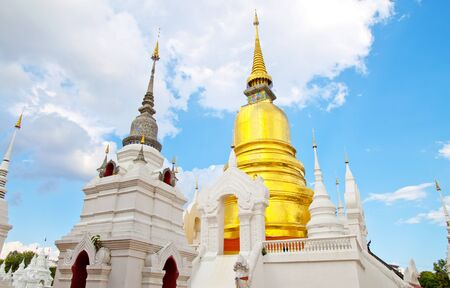 Golden Pagoda Buddhist Temple is located in Thailands tourist attractions. photo