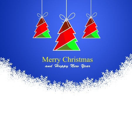 Abstract background with Christmas tree  and colored lights on Christmas. Happy New Year! Stock Photo