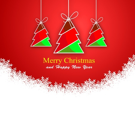 Abstract background with Christmas tree  and colored lights on Christmas. Happy New Year! Stock Photo - 11800486