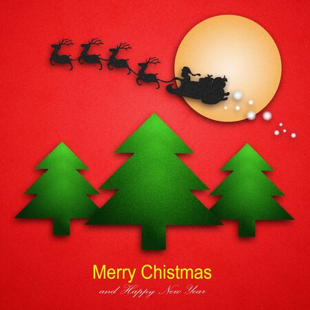 Colorful Christmas images into greeting cards for New Year Stock Photo - 11800505