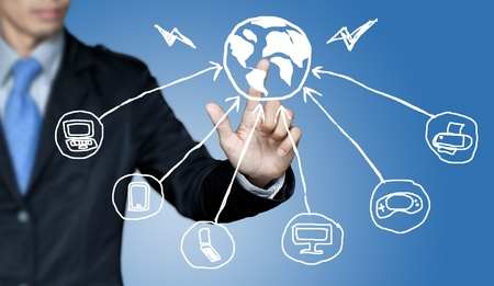 Communication needs and the business world. photo