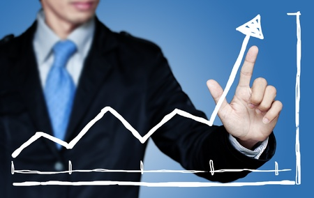 Business to grow in the active high. Stock Photo