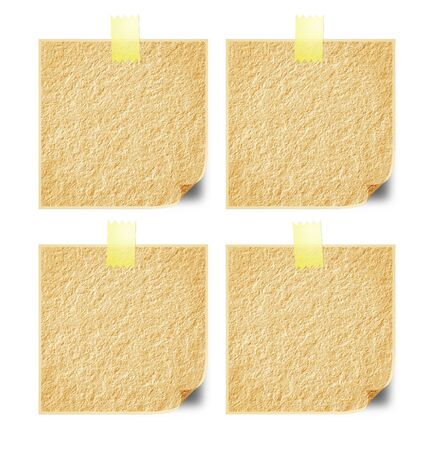 written communication: Paper on the wall for written communication in the workplace. Stock Photo