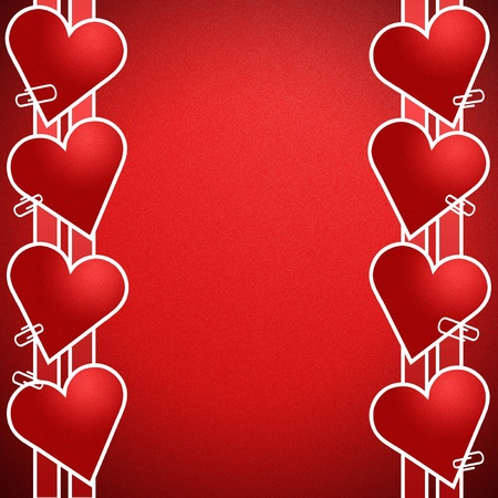 Red heart on a red background. And write a message that says I Love you. photo
