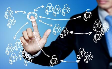 interactions: Sociale interacties van een marketing-communicatie bedrijf. Stockfoto
