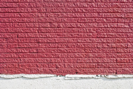 revetment: The surface is made of brick red background. Stock Photo