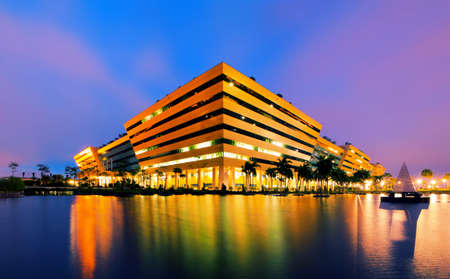 Modern building is the work of the government  Bangkok Thailand