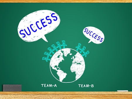 The concept of a team of business  By combining the idea  photo