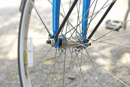 spoke: old bicycle wheel transport