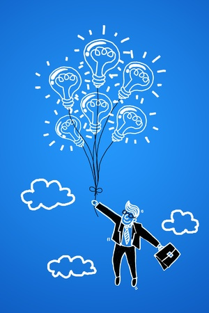 Business professionals with a business idea into success. photo