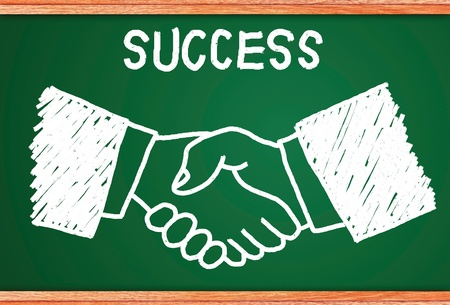 intelligent partnership: Concept of business people who have a need for cooperation in joint venture and sales. Stock Photo