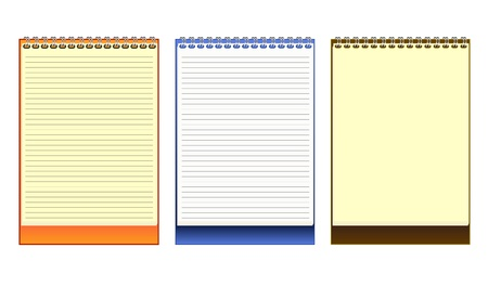 Notebook Paper book. Vector