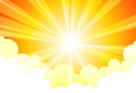 Sky Sun Cloud Stock Vector - 14160599