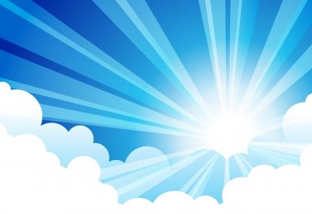 Sky Sun Cloud Stock Vector - 14160597