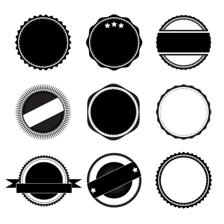 Collection of the label to ensure quality and premium design with a retro style. Illustration
