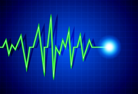 Abstract heart beats cardiogram illustration Vector