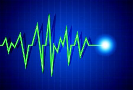 Abstract heart beats cardiogram illustration Stock Vector - 14419040