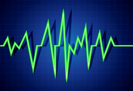 heart ecg trace: Abstract heart beats cardiogram illustration