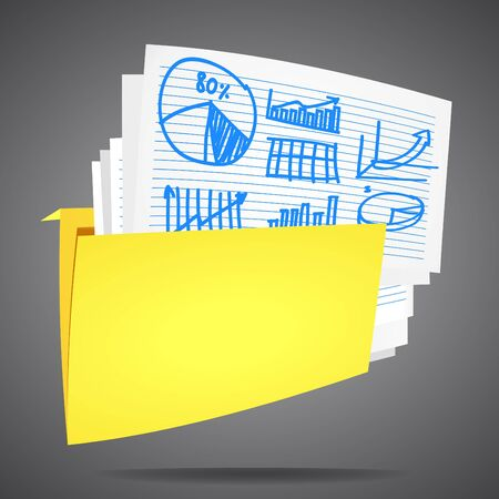 Documents folder to store the data  For the background vector Stock Vector - 14419034