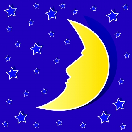 night time with stars and moon Stock Vector - 14598167