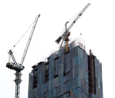 crane near building on Cloudy sky background Stock Photo - 14598206