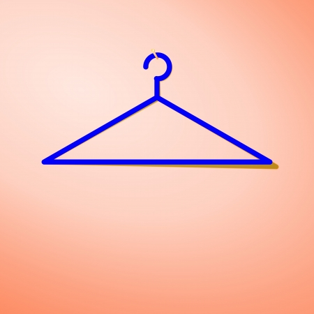 Hanger hanging on the wall is blank  Vector