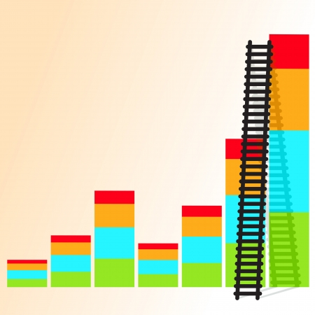 leadership development: The  ladder to take to reach the target  Concept success story of the business