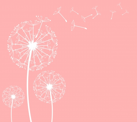posterity: The vector dandelion on a wind loses the integrity Illustration