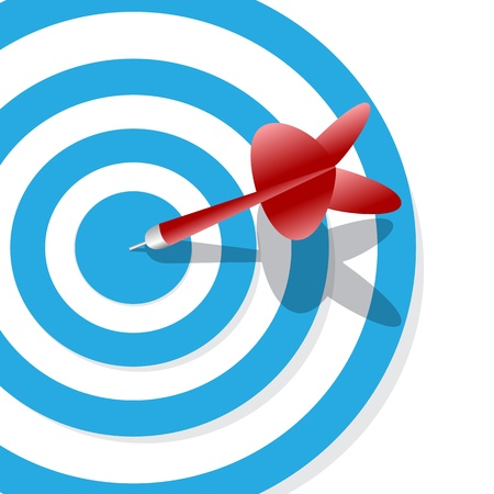 one target and a dart on center  Vector