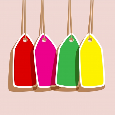 colorful labels with a blank space  For sales message