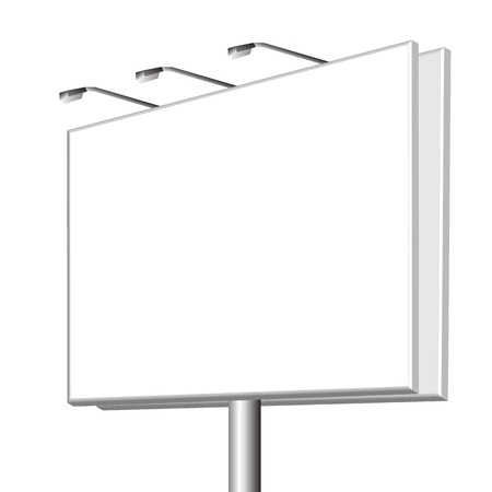blank  outdoor billboard on white background Vector