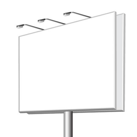 vierge panneau d'affichage extérieur sur fond blanc Vecteurs