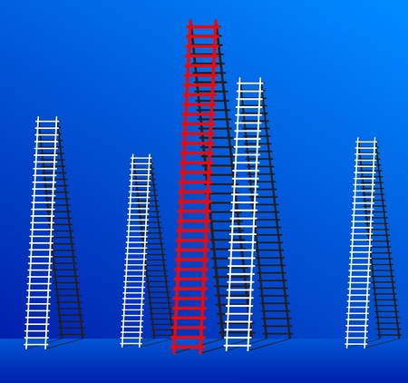 Ladders to success for many of the success that it Stock Vector - 14753601