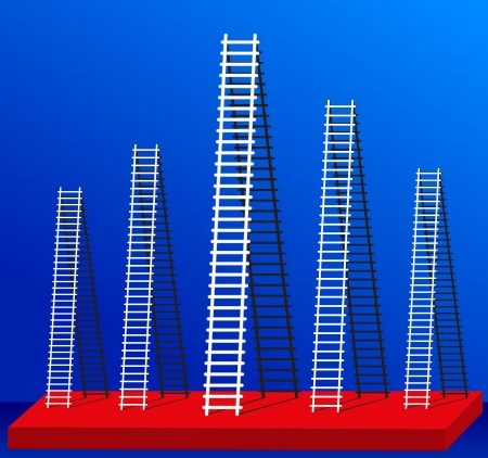 Ladders to success for many of the success that it  Vector