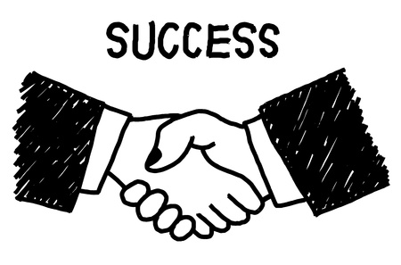 intelligent partnership: Concept of business people who have a need for cooperation in joint venture and sales. Illustration