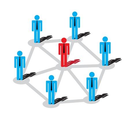 Red de planes de negocios El más destacado y el éxito Ilustración de vector