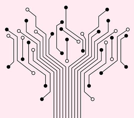 communicatie: Technologie achtergrond met een elektronische schakeling. Is de moderne Over computers.
